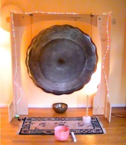 Large gong; centerpiece of the 40 Metal Circle instruments.